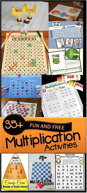 45 FUN and FREE Multiplication Activities (multiplication games, multiplication worksheets, and more) perfect for summer learning, math centers, homeschool and more for 2nd grade, 3rd grade, 4th grade, and 5th grade students.