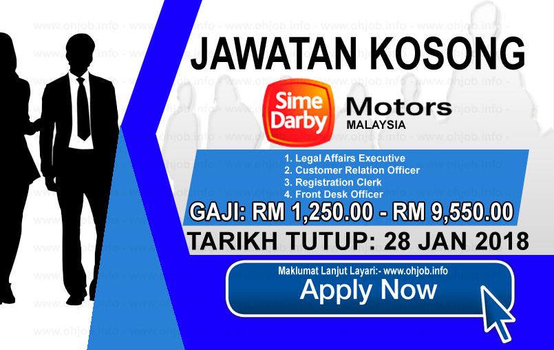 Jawatan Kerja Kosong Sime Darby Motors logo www.ohjob.info januari 2018