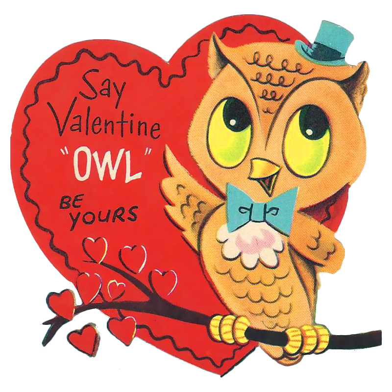 """The Happy Holiday Girl: """"Owl"""" be yours Valentine vintage ..."""