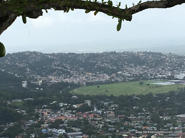 Queen's Park Savannah as seen from Fort George in Port of Spain, Trinidad