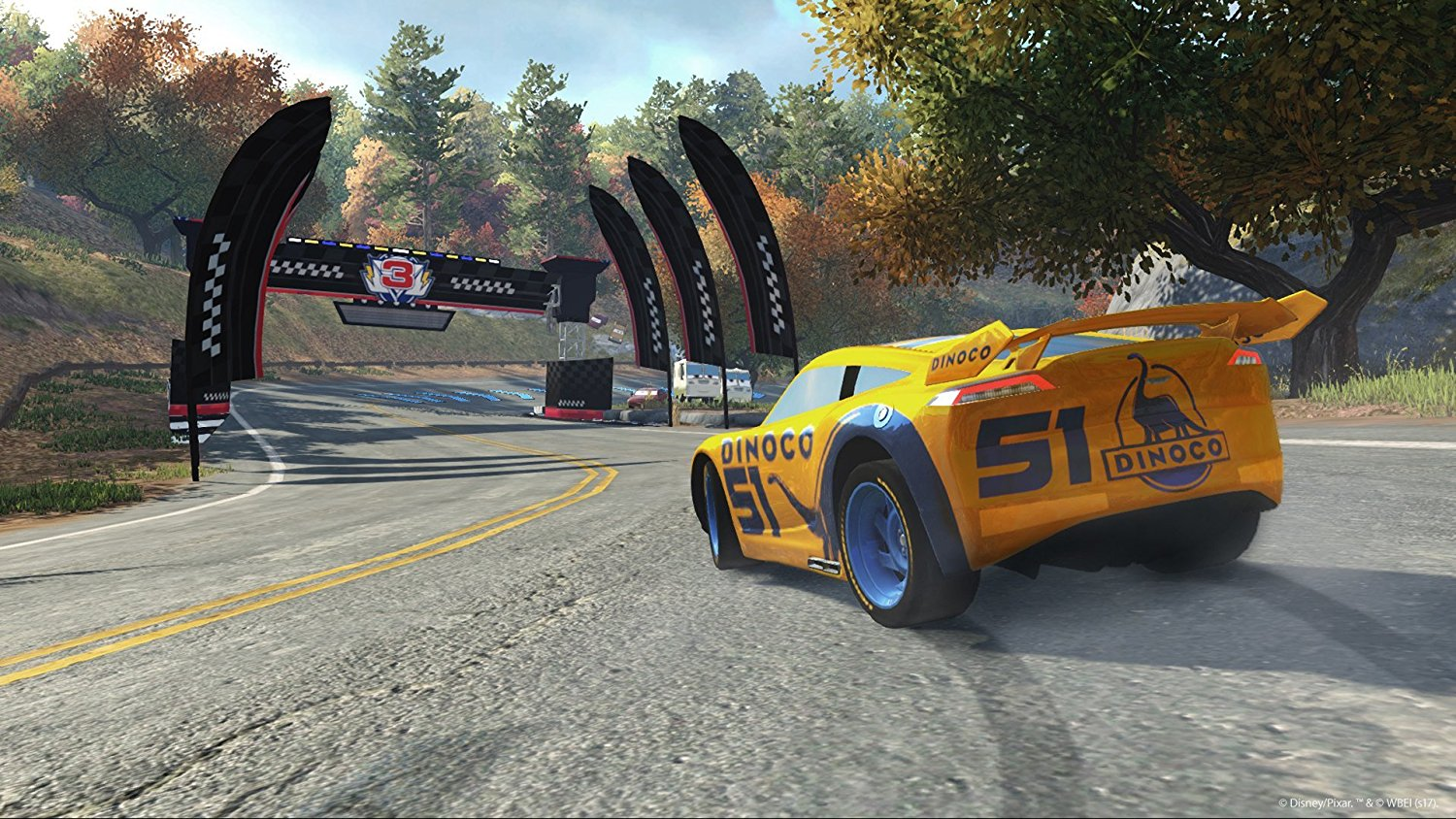 new games cars 3 driven to win ps4 ps3 xbox one. Black Bedroom Furniture Sets. Home Design Ideas
