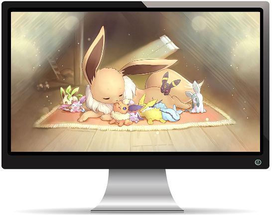 Pokemon Petite Famille Mignonne - Fond d'écran en Full HD