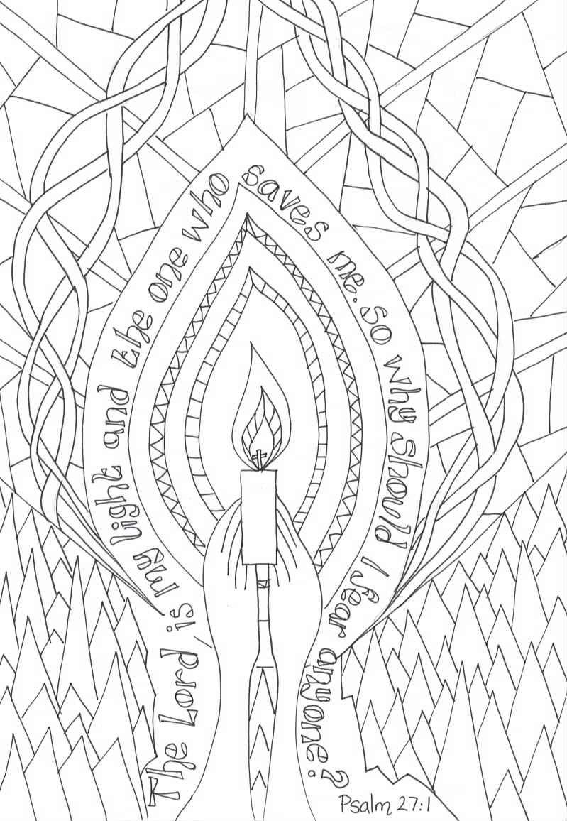 Flame: Creative Children's Ministry: Reflective Colouring