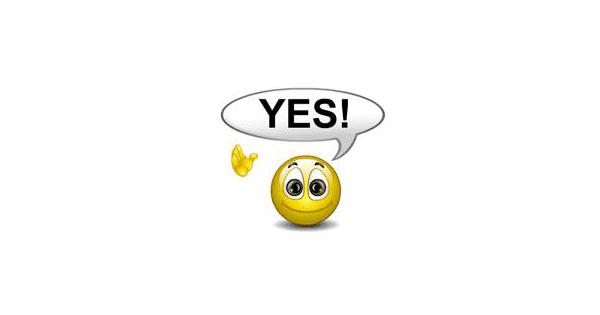Smiley Saying Yes   Symbols & Emoticons