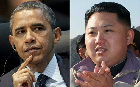 Presidents Obama and Kim Jong Un