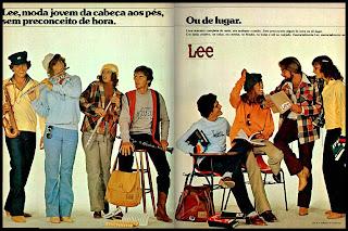 lee. moda anos 70; propaganda anos 70; história da década de 70; reclames anos 70; brazil in the 70s; Oswaldo Hernandez