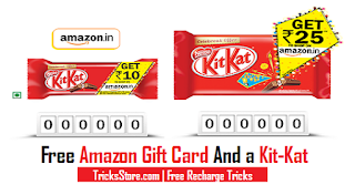 New Kitkat Amazon Offer Kitket amazon gift card