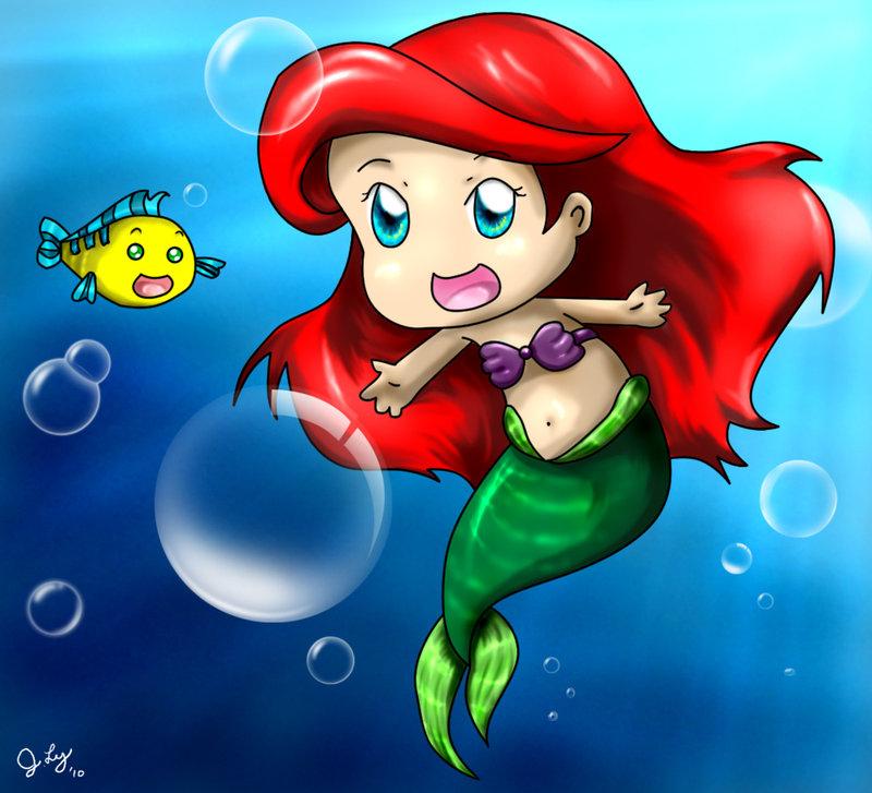 princess Ariel chibi Nàng tiên cá công chúa Ariel 4