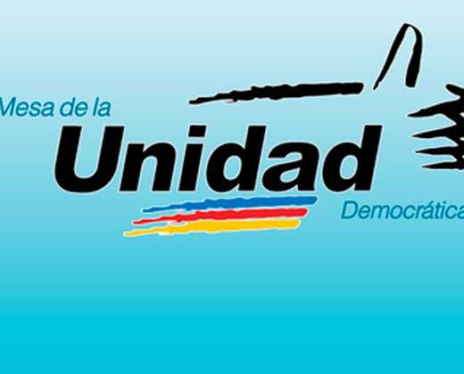 Solicitan que se anule a la MUD como partido político