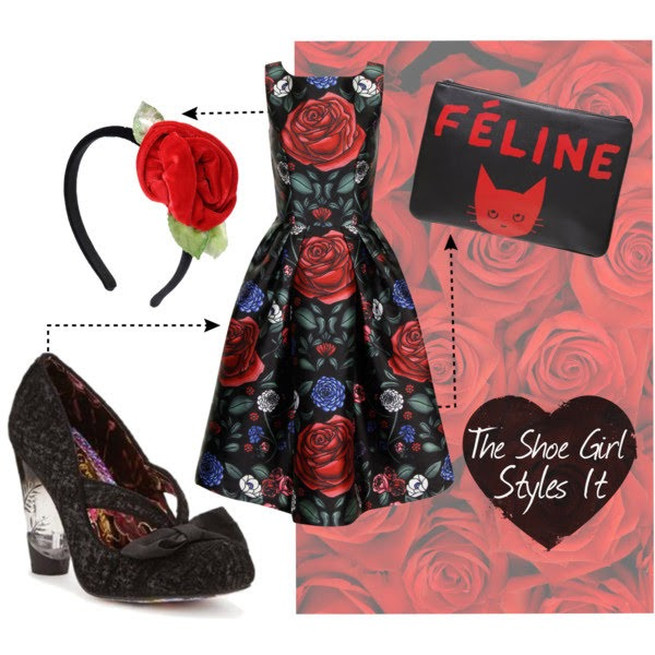 Polyvore outfit set containing Irregular Choice Hello Ha shoes