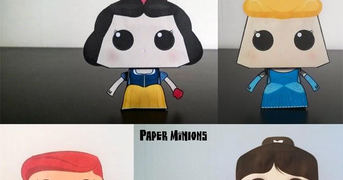 Ninjatoes Papercraft Weblog Disney Princesses Toys
