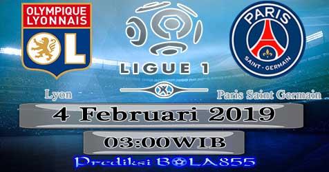 Prediksi Bola855 Lyon vs Paris Saint Germain 4 Februari 2019