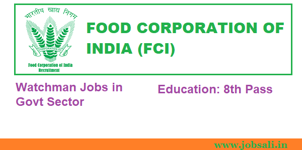 Govt job after 8th pass,Govt jobs in kerala 2017,FCI vacancy 2017