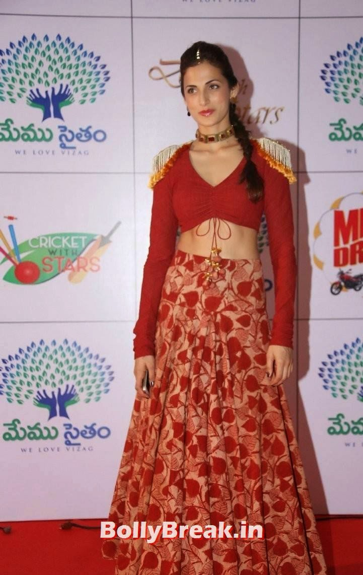 Shilpa Reddy Photos, Shilpa Reddy Navel Pics in Red Hot Dress
