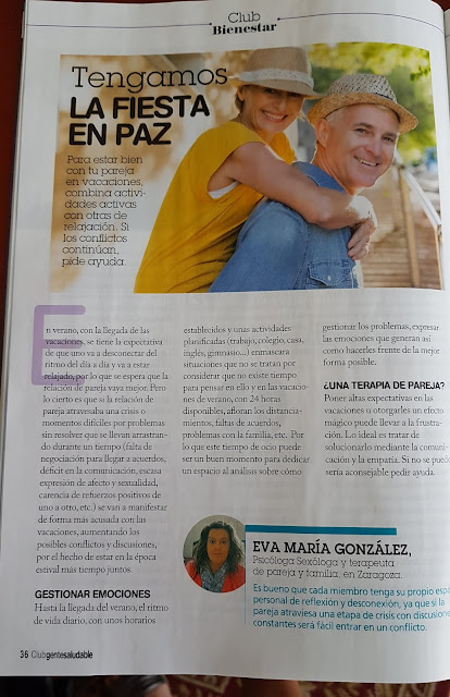 terapia de pareja de psicólogos sexólogos Zaragoza Eva María González