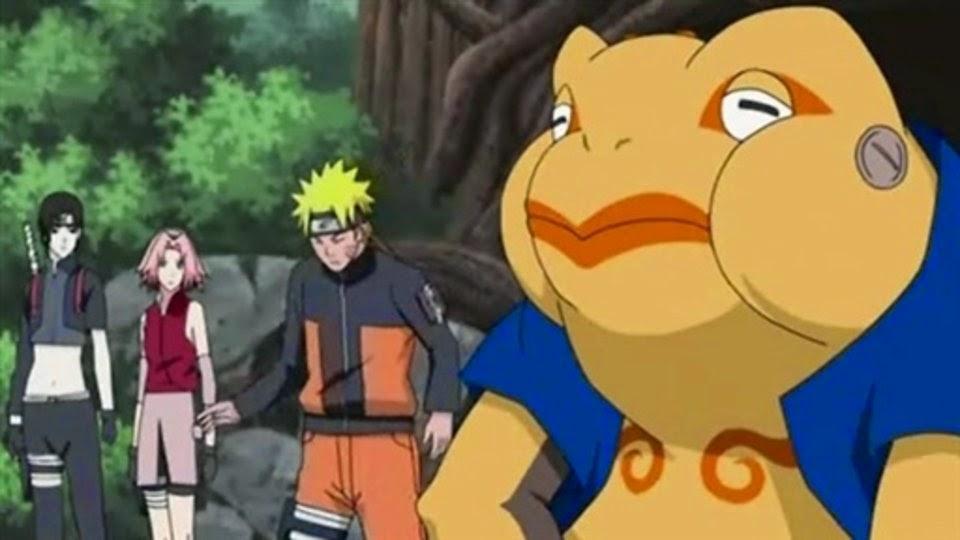 Sai, Sakura, Naruto y Gamatatsu