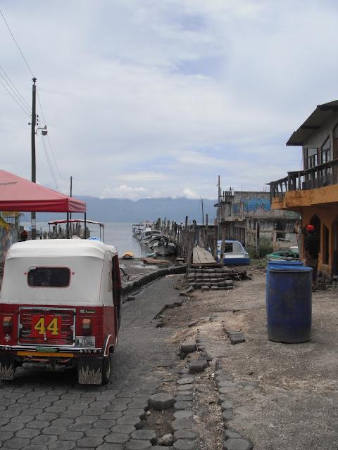 Santiago dock San Pedro la Laguna Guatemala Lake Atitlan