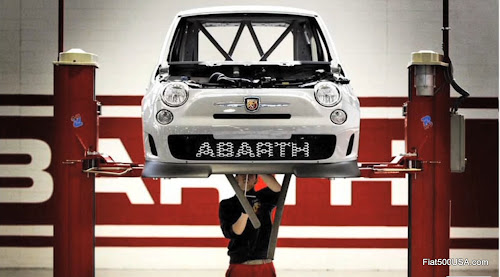 Abarth Officine preparing Assetto Corse Race Car