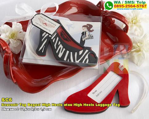 Souvenir Tag Bagasi High Heels Atau High Heels Luggage Tag