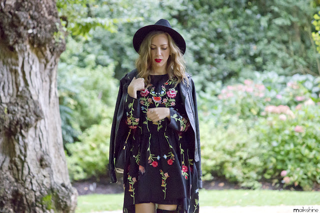 Folk outfit with floral dress