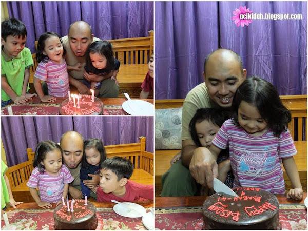 Happy Besday Babah Ke-41 Dan Adelia Ke-4
