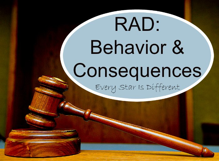 RAD:  Behaviors and Consequences