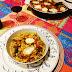 Cazuela de fideos con verduras y queso de cabra