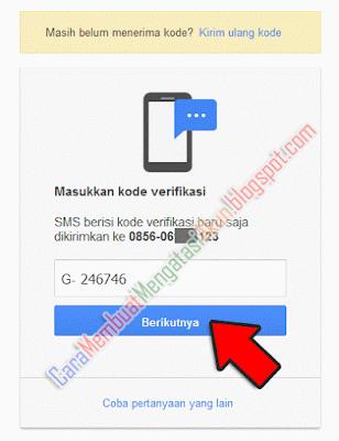 mengatur ulang kata sandi gmail