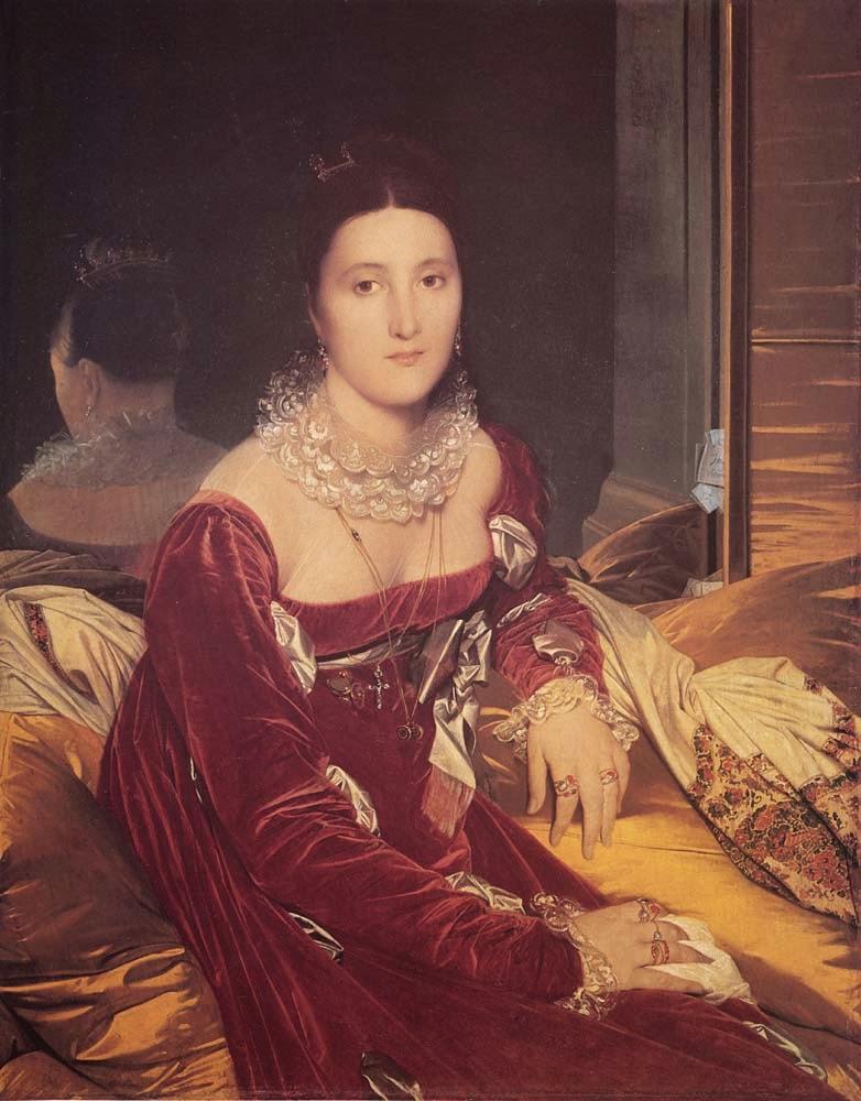 Madame de Senonnes - Ingres e suas principas pinturas ~ Neoclassicismo