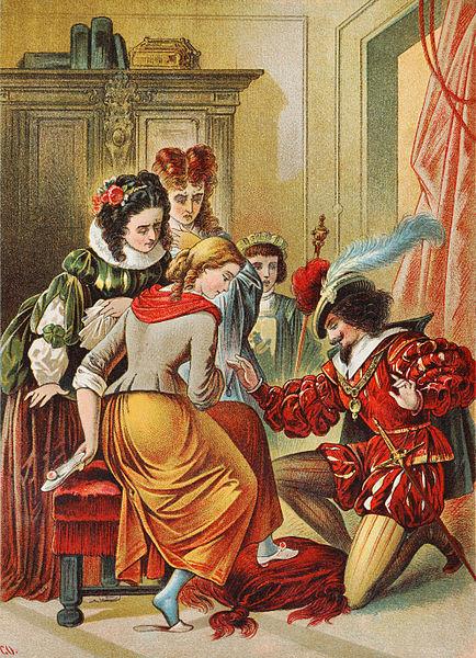 """""""La Cenicienta"""". Ilustración de Carl Offterdinger"""
