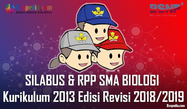 Silabus dan RPP Untuk Kelas 10,11,12 SMA BIOLOGI Kurikulum 2013 Edisi Revisi 2018/2019