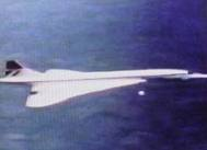 1976 FLIGHT OF CONCORDE FOLLOWED BY TYPICAL ORB/PROBE