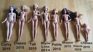 Tamanho das bonecas Barbie
