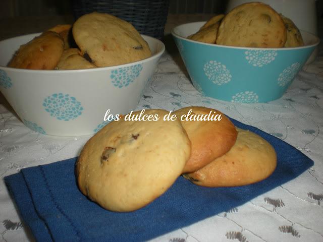 galletas de queso crema y chips