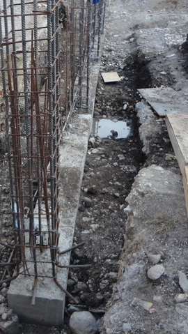 Closely spaced columns in strip footing