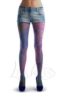 cute purple galaxy leggings