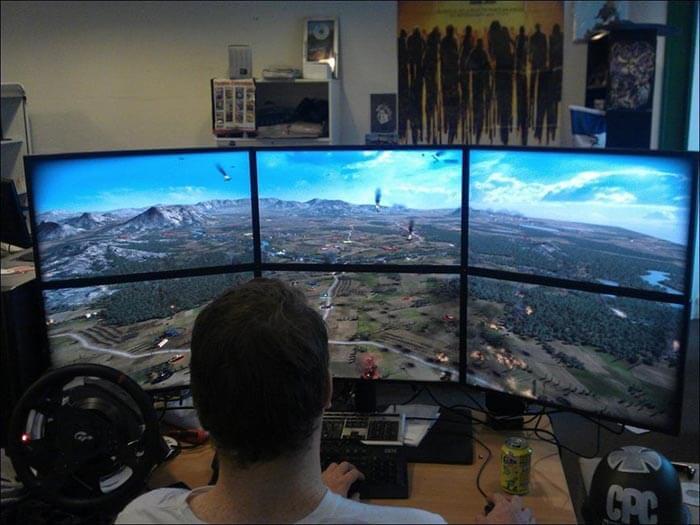 uçak simülasyonu çoklu monitör