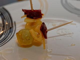 Bouchées sucrées salées aux fines tranches de fromage