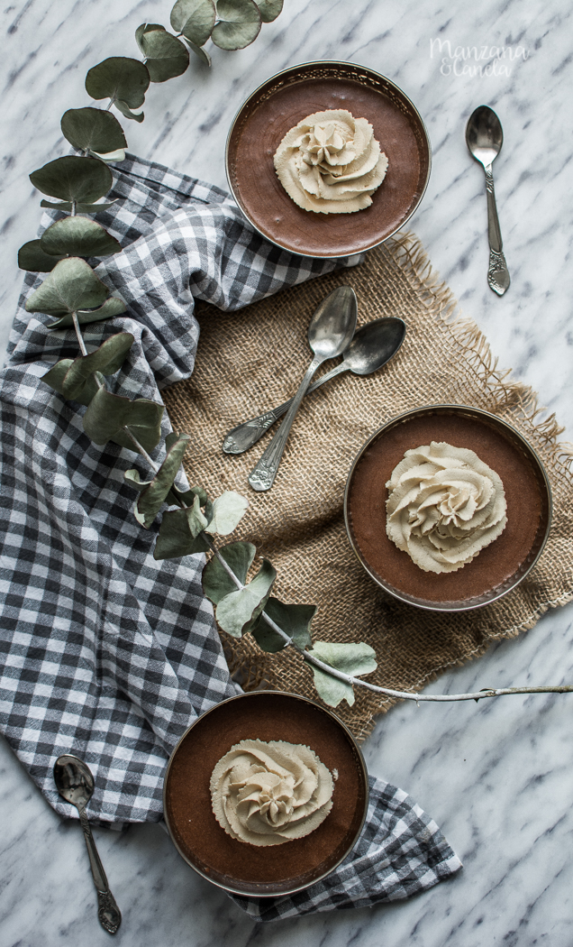 Mousse de chocolate y café.