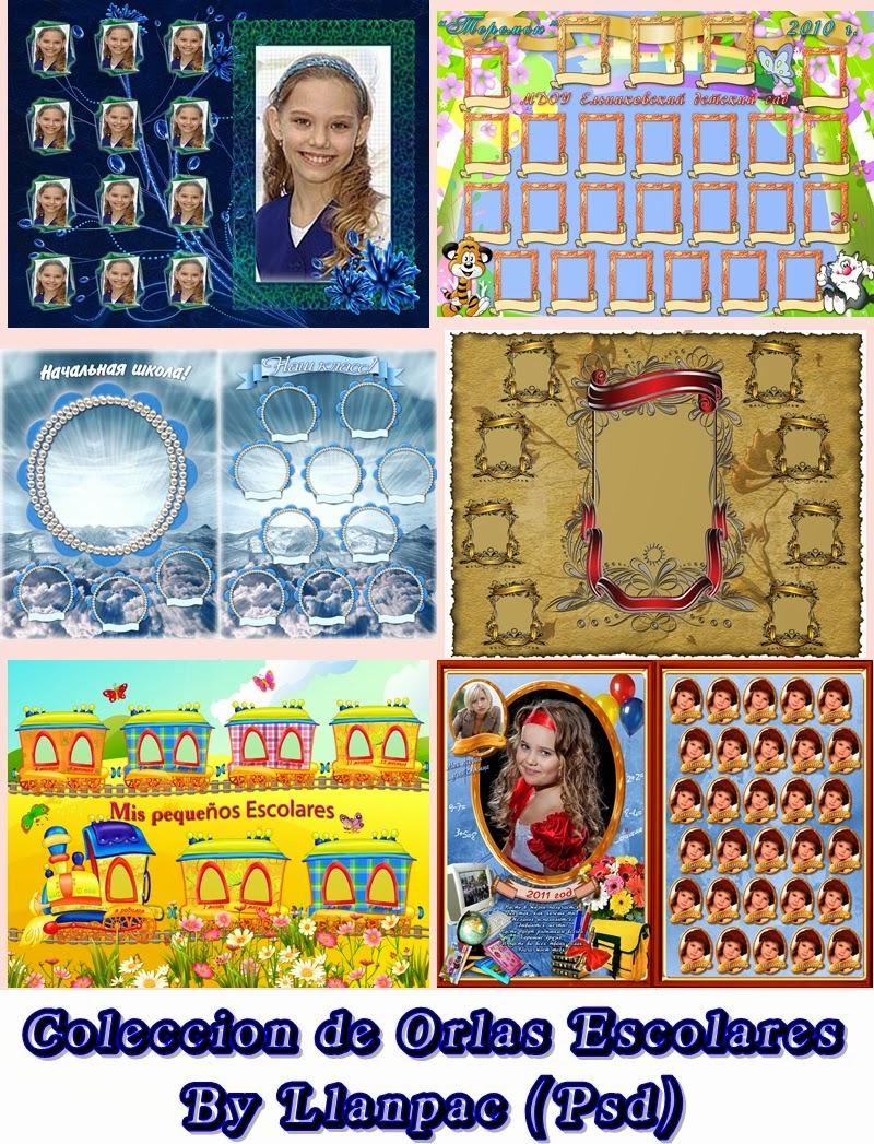 Recursos Photoshop Llanpac 12 Orlas Escolares Para Fotomontajes Psd
