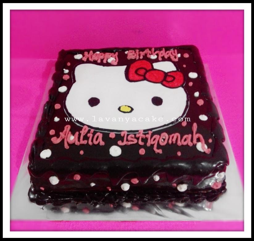 Riskaanggraini Cake S Kue Ultah Hello Kitty Coklat