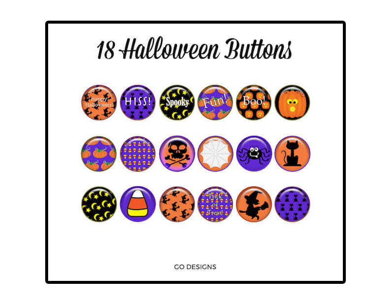 Halloween clip art and free games and activities for the primary grades. #gradeonederful #clipart #halloween #halloweenclipart #halloweenbuttons
