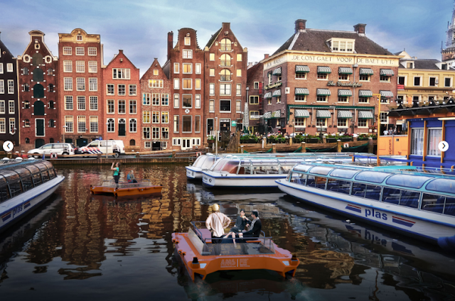 An autonomous self-driving fleet of Boat for Amsterdam Waterways Research