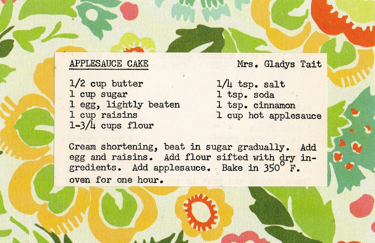 Applesauce Cake (quick recipe)