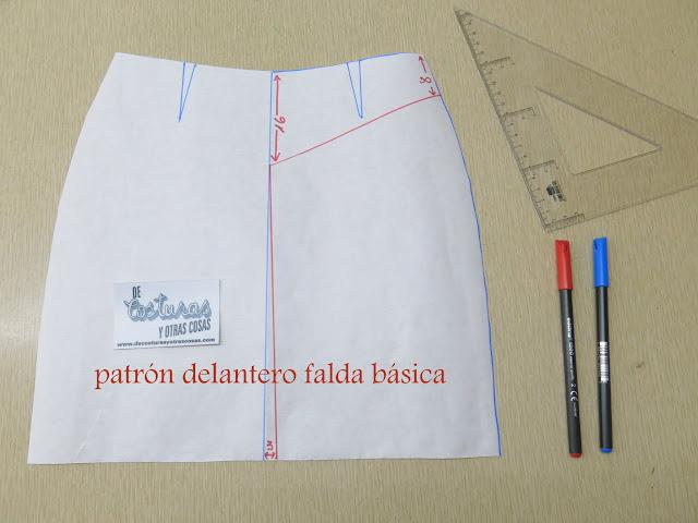 trazado de patrón básico falda recta