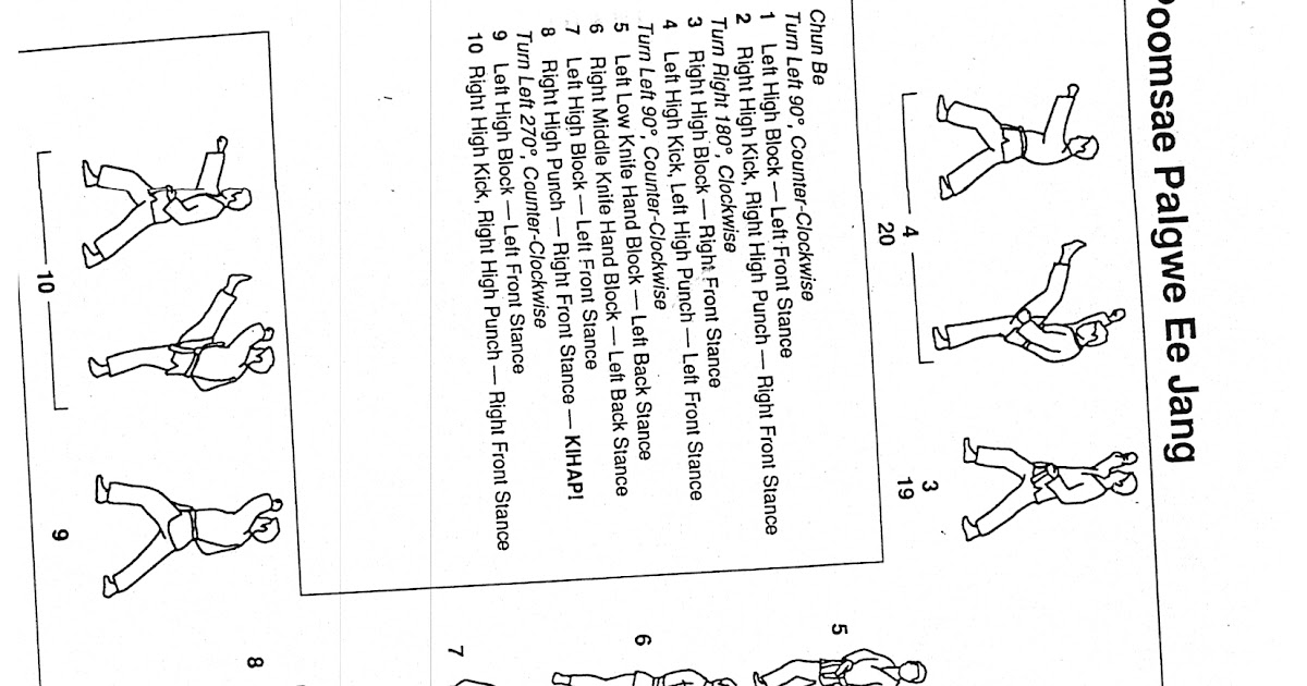 Bill Hammond's Martial Arts: POOMSAE PALGWE EE JANG