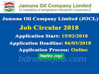 JOCL - Jamuna Oil Company Limited Receptionist Circular 2018