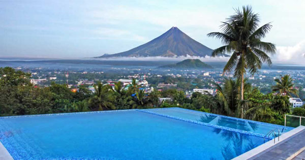 Mayon Volcano view from The Oriental Legazpi in Albay