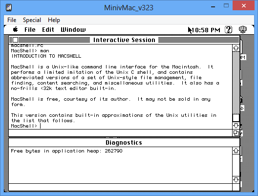 Exploring old Mac software on Mini vMac, Basilisk and SheepShaver