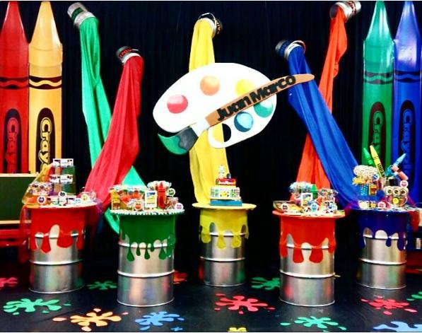 101 fiestas fiesta tem tica art party - Pinturas de decoracion de salones ...